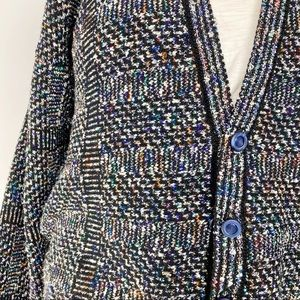 Vintage Sweaters - Vtg 80s 90s button front cardigan sweater 2X